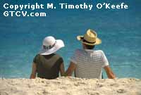 St. Thomas, USVI Older Couple on Beach copyright M. Timothy O'Keefe - www.GuideToCaribbeanVacations.com