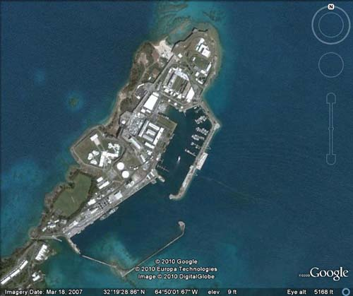 Royal Naval Dockyard Satellite Map