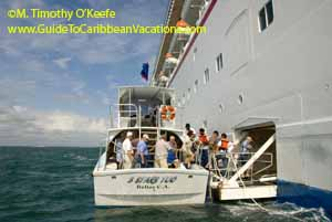 Belize City Cruise Ship Tendering Passengers