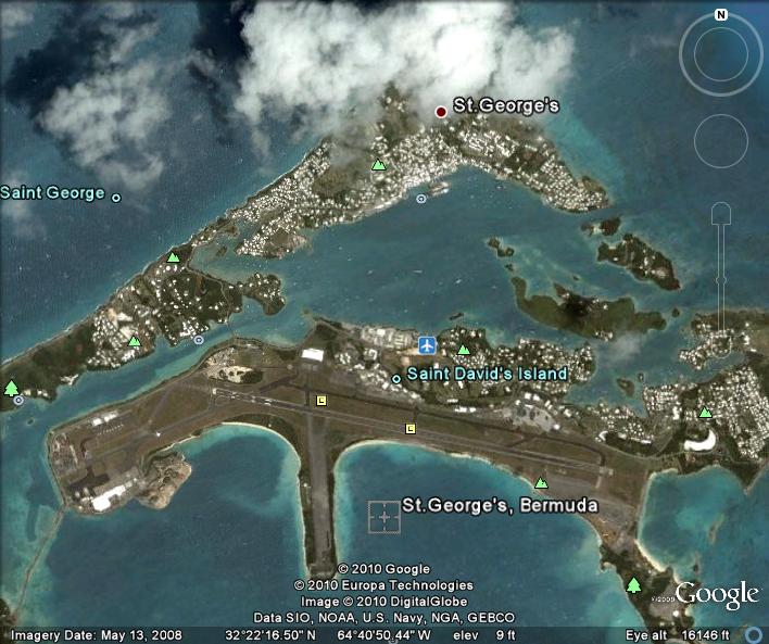 Bermuda Satellite Map St Georges