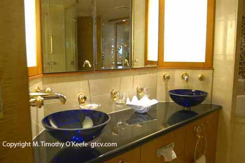 Brilliance of the Seas Cruise Ship Suite Bathroom copyright M. Timothy O'Keefe www.guidetocaribbeanvacations.com
