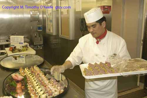 Royal Caribbean Cruise Ship Brilliance of the Seas Galley Preparation copyright M. Timothy O'Keefe
