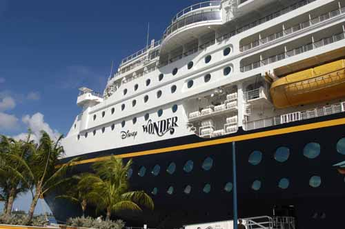 Disney Wonder Docked in Nassau �M. Timothy O'Keefe www.GuideToCaribbeanVacations.com