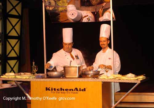 Disney Wonder Cruise Photos Pictures Cooking Demonstration  �M. Timothy O'Keefe www.GuideToCaribbeanVacations.com