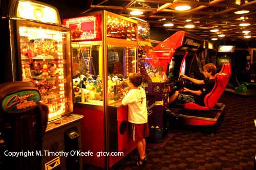 Disney Wonder Video Arcade  ©M. Timothy O'Keefe www.GuideToCaribbeanVacations.com